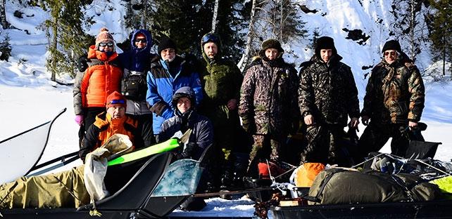 Участники экспедиции. Фото Алексей Яковлев